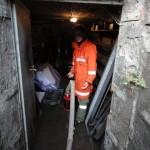 Auspumparbeiten im Keller