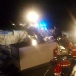 Unfallstelle auf der B165 im Bereich Vorstadlbrücke